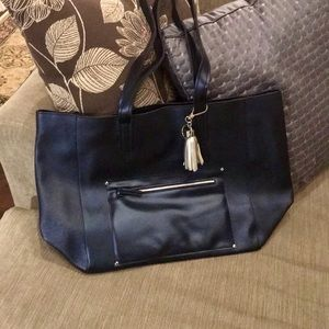 New Vegan Leather Tote Bag and Keychain
